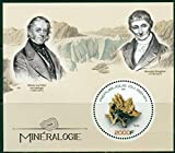 Benin 2017 souvenir sheet Mineralogy-Science Scientists Minerals Ritter Brongniart MNH JandRStamps