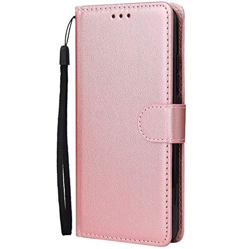 Dclbo Funda para Samsung Galaxy S8 Plus, funda para teléfono móvil, funda de piel con tapa, con tarjetero, función atril, rose gold