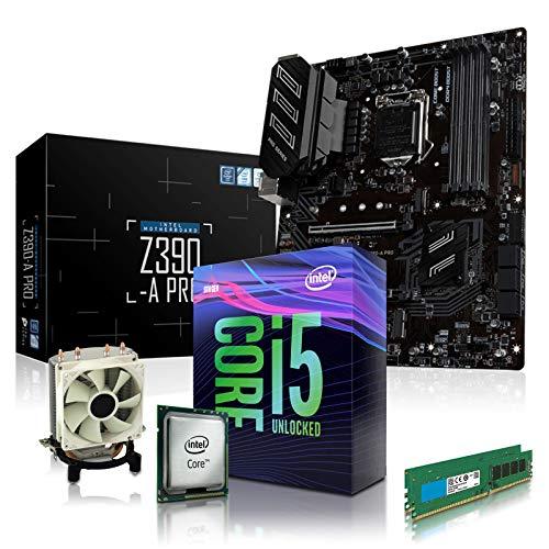 dcl24.de [12479] PC Aufrüstkit Intel i5-9600KF 6x3.7 GHz - 16GB DDR4, ohne onBoard Grafik, eigenständige Grafikkarte notwendig, Mainboard Bundle, Z390-A Kit