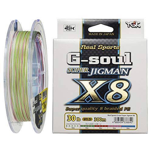 YGK Yoz-ami Real Sports G-soul Super JIG MAN X8 8braided Pe #3-50lbs 300m.