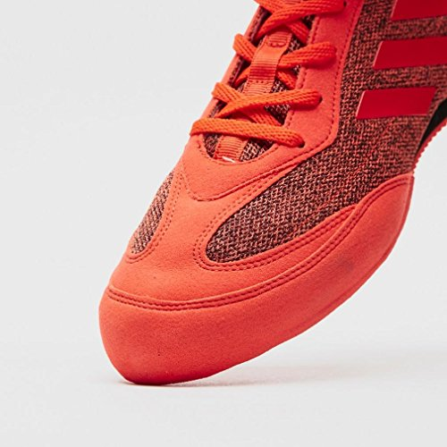 adidas Box Hog 3 Plus Boxing Shoes, Electric Red, 9.5