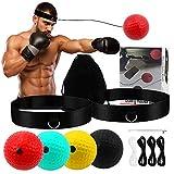 Boxing Reflex Ball,4 Hand-Eye Coordination Training React Reflex Ball Plus 2 Adjustable Headband,...