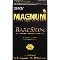 Trojan Magnum Bareskin Lubricated Condoms, 10 Count by Trojan