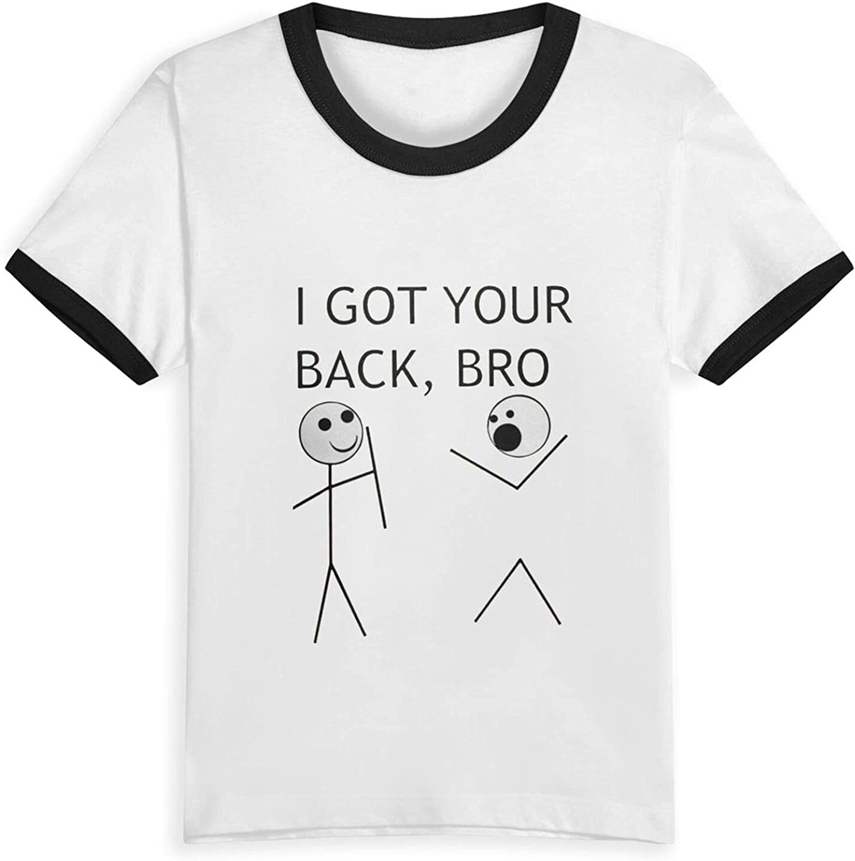 I Got Your Back Bro Boys Girls Shirts Funny Kids Short Sleeve T-Shirt Tops Tees 2-5 Years