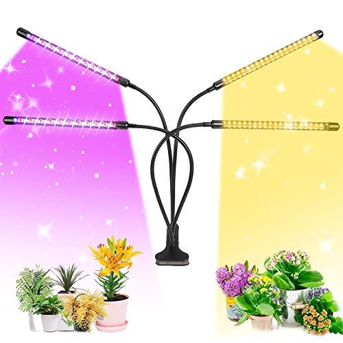 85W lampada led piante, Full Spectrum Plant Light con 4 modalità, 4 modalità di temporizzazione e 9 dimmerabili luce vegetale per la coltivazione di piantine idroponiche da giardino della casa