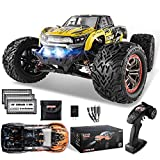 BEZGAR 9 Hobbyist Grade 1:12 Scale RC Trucks, 4WD High Speed 45 Km/h All Terrains Electric Toy Off Road RC Monster Truck Vehicle Car with 3 Rechargeable Batteries for Boys and Adults