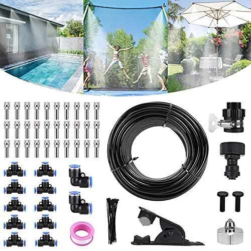 Bearbro Kit Nebulizadores para Terrazas,Sistema de Nebulizacion para Exteriores jardín Pergola, DIY automático riego para Invernaderos, Jardines, Terrazas y Césped(10M)