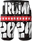 Election 2024 Donald Trump Mens Beach Pants for Men Swim Trunks Short Bathing Suits Board Shorts with Pockets