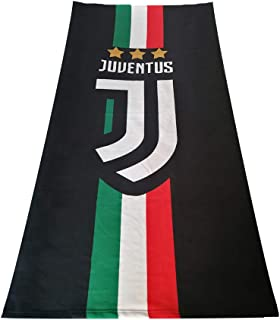 Louishop Football Club Beach Towel Bath Towel Super Soft Absorbent Towel for Bath/Swimming Pool/Gym (Juventus)