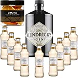 Gintonic - Hendricks Gin 41,3 ° + 9London Esencia 'Ginger Ale '- (70cl + 9 20cl *) + Pot 20 rebanadas de naranja seca.