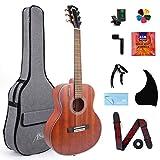 AKLOT Chitarra acustica classica, chitarra acustica da viaggio con corde classiche in moga...