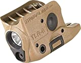 Streamlight 69278 TLR-6 Tactical Pistol Mount Flashlight 100 Lumen with Integrated Red Aiming Laser, For Glock 42 & 43, Flat Dark Earth