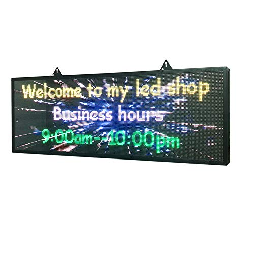 """P5 39""""x14""""Indoor Full Color LED Programmable Scrolling Display Message Board can Edit Text,Image, Video Display Electronic Rolling for Business,Shop,Window"""