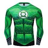 GYM GALA Green Lantern Shirt Long Sleeve Running Sports Fitness T-Shirt HD 3D Print Compression...