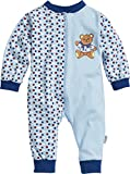 Playshoes Schlafoverall Single-Jersey Bär Pijama, Azul