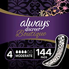 Always Discreet Boutique offers incredible protection with a fabric-like feel Made differently - turns liquid to gel and locks it away Flexible and discreet design for a smooth fit under clothes Helps stop leaks at edges Number one combination of pro...