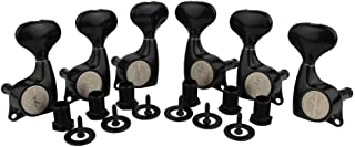 Guyker 6Pcs Guitar Machine Heads (3L + 3R) – 1:21 Sealed Tuning Key Pegs Tuners Set Replacement for ST Tele SG Style Electric or Acoustic Guitars – Black