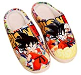 Cosstars Dragon Ball Anime Suave Antideslizante Zapatillas de casa lindos felpa cálidos Zapatos de interior