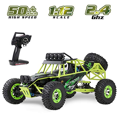 GoolRC WLtoys 12428 RC Car, 1/12 Scale 4WD 50km/h High Speed RC Rock Crawler, 2.4Ghz Remote Control Off Road Truck for Adults & Kids