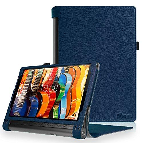 FINTIE Étui Housse pour Lenovo Yoga Tab 3 Pro/Yoga Tab 3 Plus 10 Tablette 10.1 - Folio PU Cuir Protection Coque Haute Qualité Case, Bleu Marine
