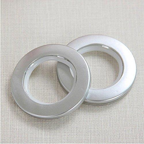 paomo Anillos de cortina de ventana (8 unidades) – Acero inoxidable inoxidable metal cortina clips anillos para pesos de cortina, exhibición de arte (plata)