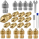 26PCS 3D Printer Nozzles Cleaning Kit,MK8 3D Printer Extruder Nozzles Compatible with Creality Ender 3 Ender 3 pro Ender 5 Ender 5 pro CR-10 and so on Band Cleaning Needles,3D Printer Nozzle Wrench