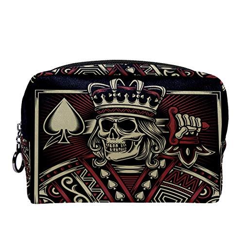 Bolsa de cosméticos Bolsa de Maquillaje para Mujer para Viajar para Llevar cosméticos, Cambio, Llaves, etc. The Poker King