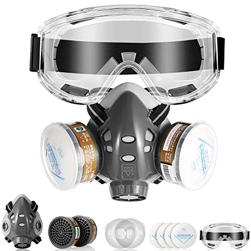 DK177 Half Facepiece Reusable Cover, Cover Filters for Personal Protective,Effective Filtering Gases, Vapors, Dust, Paint; Used for Cleaning, Grinding, Sanding, Welding,Painting