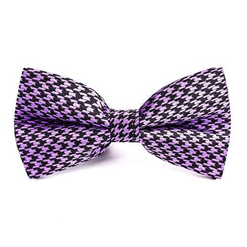 Neckchiefs Corbata de Polo de Pata de Gallo Pata de Gallo Vestido de Traje de Pajarita Pajarita de Caballero (Color : Púrpura)