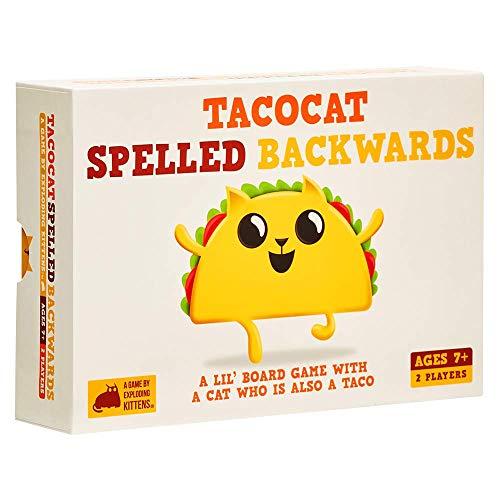 Exploding Kittens LLC TACO-CORE-1 Tacocat Spelled Backwards, Familienfreundliche Partyspiele, Kartenspiele für Erwachsene, Jugendliche & Kinder