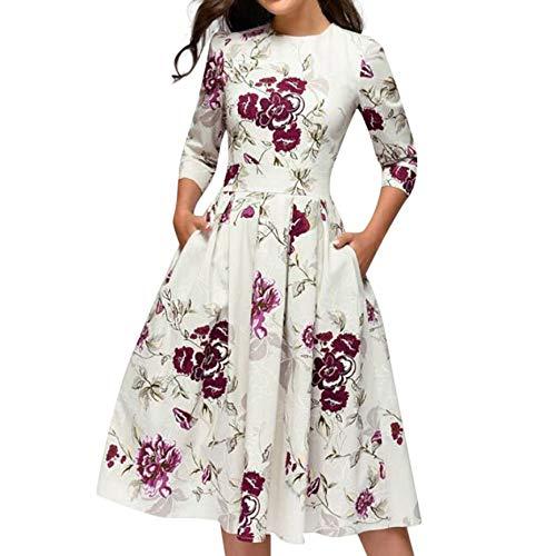 JUTOO Vestidos Vestidos Mujer Casual Verano Vestidos Sexys Y Elegantes Moda Mujer 2019 Rebajas Vestidos Vestidos De Mujer Verano Vestidos De Fiesta para Comuniones Vestidos