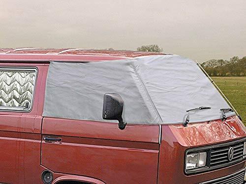 Just Kampers Externe Windschutzscheiben-Abdeckung für VW T25 T3 1979–92, silberfarben