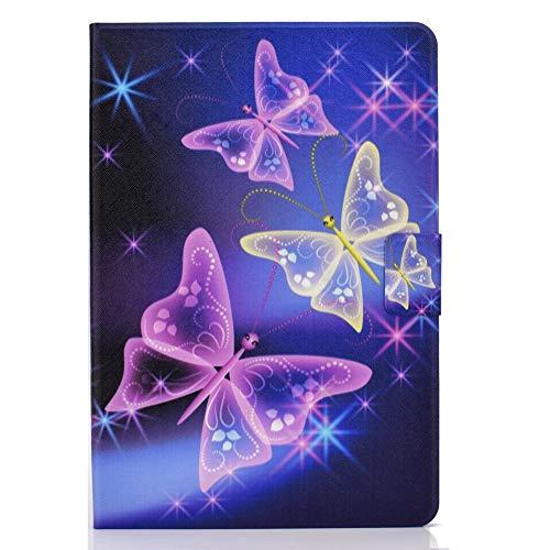 Coopay - Carcasa para tablet Huawei MediaPad T5 10, Wi-Fi, diseño de mariposas, piel sintética y silicona interna, resistente a los golpes, protección con tapa Smart Cover