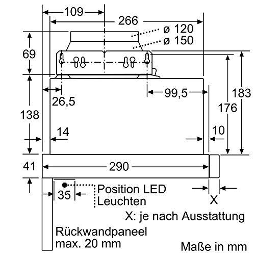 Neff D46ED22X0 Flachschirmhaube - 6