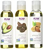 Now Foods Variety Moisturizing Oils Sampler: Sweet Almond,...