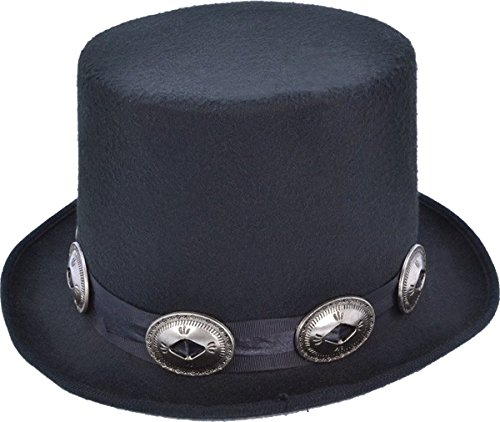 Adults Slash Guns N Roses Top Hat with Buckles