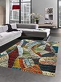 CARPETIA Tapis Design Tapis de Salon Feuilles Design coloré Größe 120x170 cm