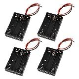 uxcell バッテリーホルダー 電池ケース ボックス コンテナ プラスチック製 3 x 1.5V AAAバッテリー 4個入り