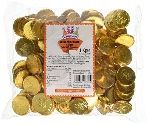 Treasure Island Süßigkeiten Milch Schokolade Gold Piraten Münzen Beutel 1kg (ca. 135Münzen)