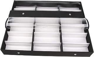 18 Slots Sunglasses Organizer Multiple Eyeglasses Eyewear Display Collection Case Glasses Storage Holder Box