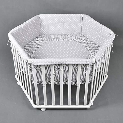 Parc bébé de luxe parc enfant 6 square parc de bebe BLANC 52305