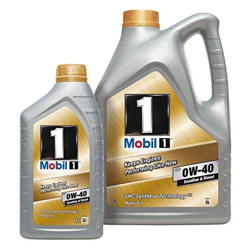 Mobil 153686 FS 0W-40 Gasoline & Diesel, 5 Liter Plus 1 Liter