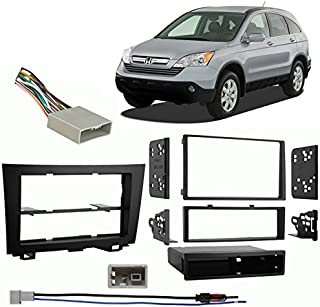 Compatible with Honda CRV 2007-2011 Multi DIN Aftermarket Harness Radio Install Dash Kit