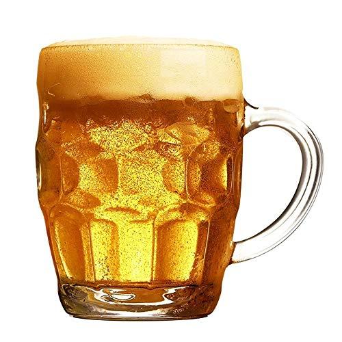 Jarras De Cerveza Vasos De Cerveza Hogar Con Mango Vaso Cerveza Bar Vino Con Leche Bebida Cocina 250Ml,Vaso De Vidrio - 250 Ml