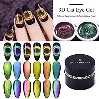BORN PRETTY 9D Galaxy Cat Eye Nail Gel Chameleon Magnetic Soak Off UV/LED Nail Varnish 5ml Manicure Gel Lacquer 6 Boxes
