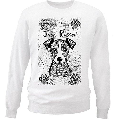teesquare1st Men's Jack Russell Terrier White Sweatshirt Size XXLarge