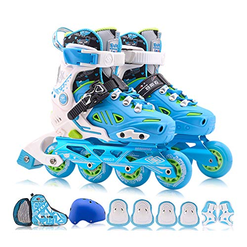 Fantastic Deal! XUNMAIFBT Inline Skates with Light up Wheels, Size Adjustable Removable and Washable...