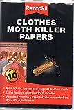 Rentokil REN0125 Moth Killer Papers Clothes (Pack of 10), Multi-Color