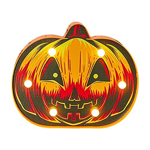 fosilily Halloween Led Calabaza Linterna Fantasma Araña Murciélago Decoraciones De Luz Nocturna Accesorios De Fiesta De Halloween Bar En Casa, Decoraciones De Lámpara De Mesa