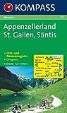 Appenzellerland, St. Gallen, Säntis 1 : 50 000: Wanderkarte. GPS-genau